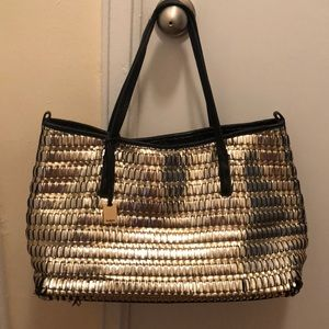 Botkier Wanderlust East West Gold and Silver Tote